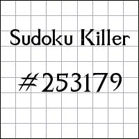 Killer Sudoku №253179