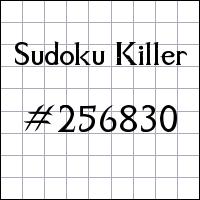 Killer Sudoku №256830