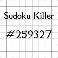 Killer Sudoku №259327