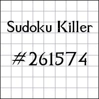 Killer Sudoku №261574