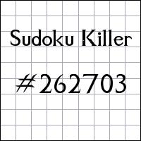 Killer Sudoku №262703