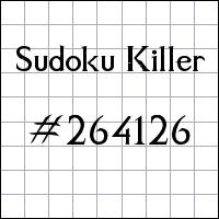 Killer Sudoku №264126