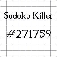 Killer Sudoku №271759