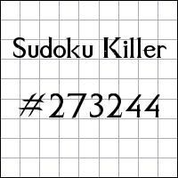 Killer Sudoku №273244