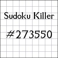 Killer Sudoku №273550