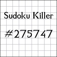 Killer Sudoku №275747