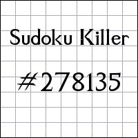 Killer Sudoku №278135