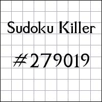 Killer Sudoku №279019