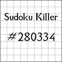 Killer Sudoku №280334