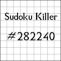 Killer Sudoku №282240
