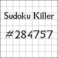 Killer Sudoku №284757