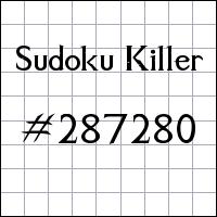 Killer Sudoku №287280
