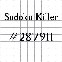 Killer Sudoku №287911