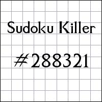 Killer Sudoku №288321