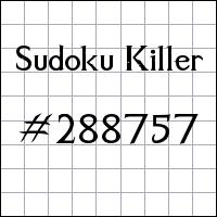 Killer Sudoku №288757