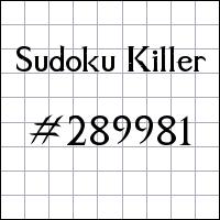 Killer Sudoku №289981