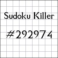 Killer Sudoku №292974