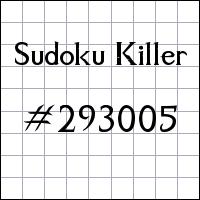 Killer Sudoku №293005