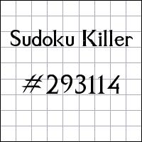 Killer Sudoku №293114