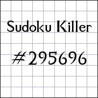 Killer Sudoku №295696