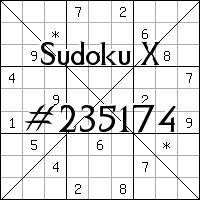 Sudoku X. №235174