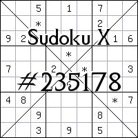 Sudoku X. №235178