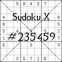 Sudoku X. №235459