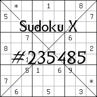 Sudoku X. №235485