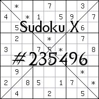 Sudoku X. №235496