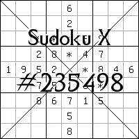 Sudoku X. №235498