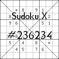 Sudoku X. №236234