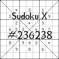 Sudoku X. №236238