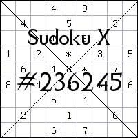 Sudoku X. №236245