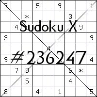 Sudoku X. №236247