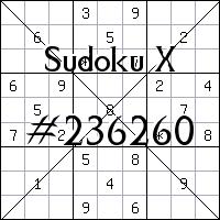 Sudoku X. №236260
