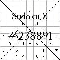 Sudoku X. №238891