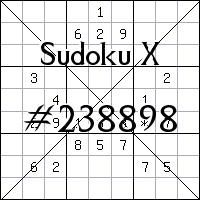 Sudoku X. №238898