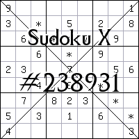 Sudoku X. №238931