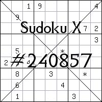 Sudoku X. №240857