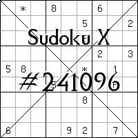 Sudoku X. №241096