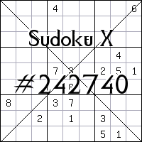 Sudoku X. №242740