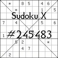 Sudoku X. №245483