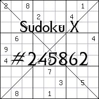 Sudoku X. №245862