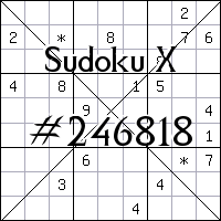 Sudoku X. №246818