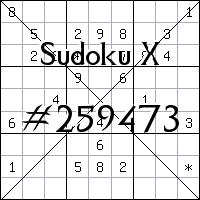 Sudoku X. №259473