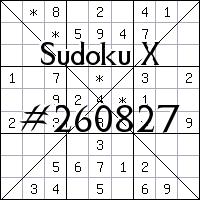 Sudoku X. №260827