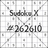 Sudoku X. №262610