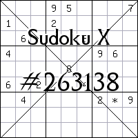 Sudoku X. №263138