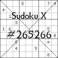 Sudoku X. №265266