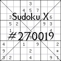 Sudoku X. №270019